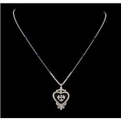 0.64 ctw Diamond Necklace - 14KT White Gold