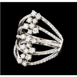 1.40 ctw Diamond Ring - 14KT White Gold