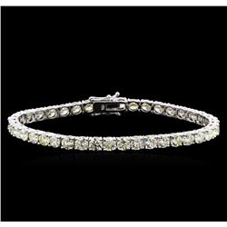 13.00 ctw Diamond Tennis Bracelet - 18KT White Gold
