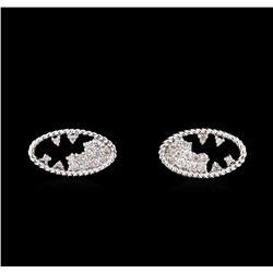 0.27 ctw Diamond Earrings - 14KT White Gold