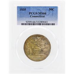 1935 Connecticut Commemorative Half Dollar Coin PCGS MS66