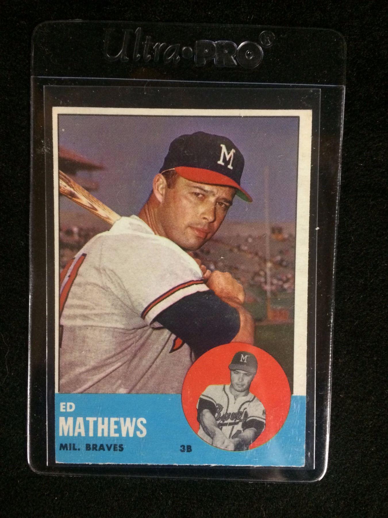 1963 Topps Baseball Card 275 Ed Mathews Milwaukee Braves