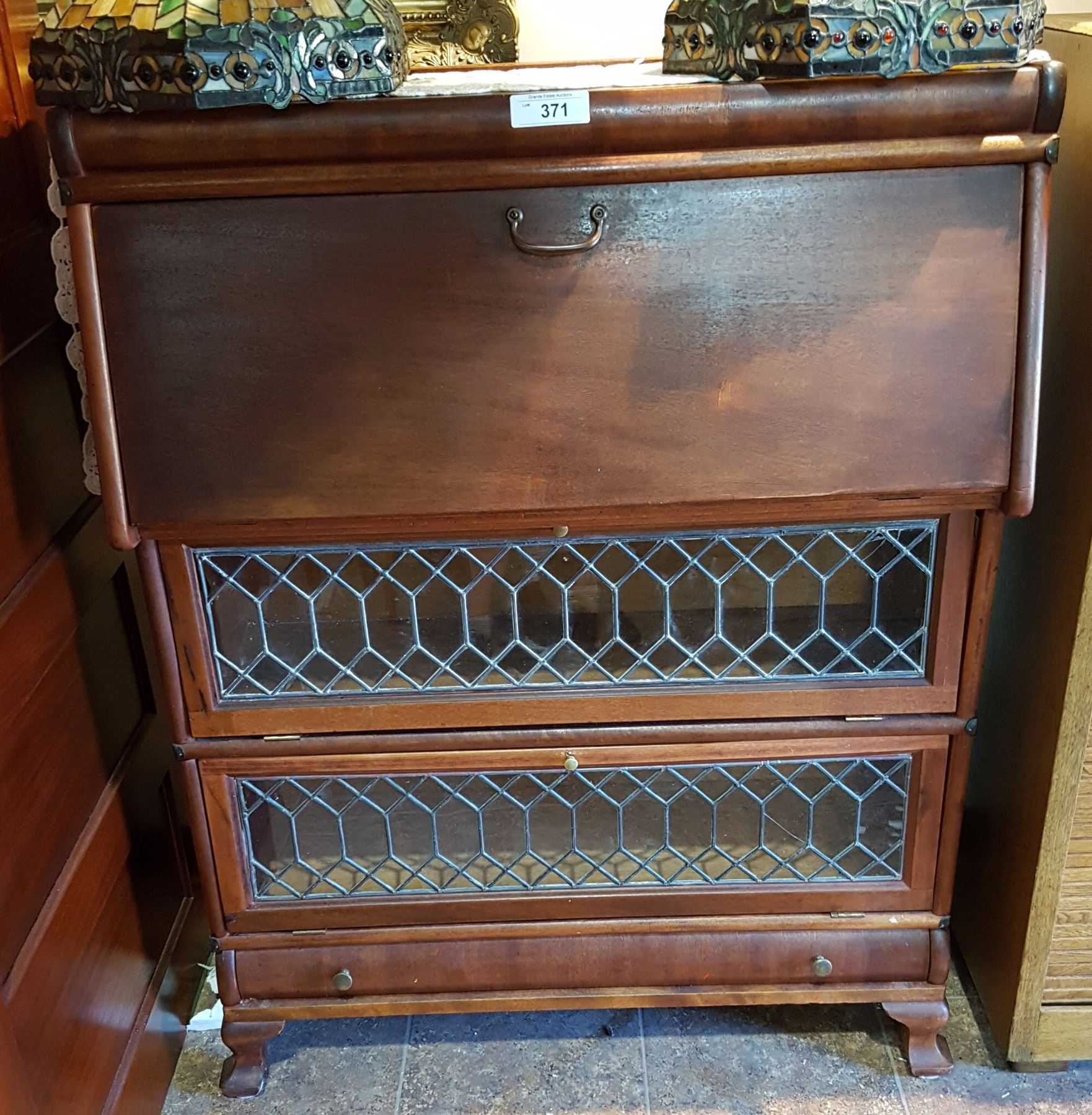 Mahogany Barrister Bookcase With Three Sections