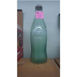 GIANT GREEN COCA-COLA BOTTLE WITH REMOVABLE CAP