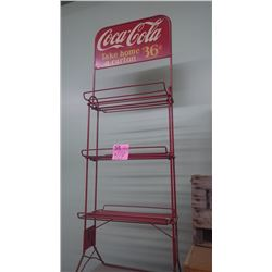 COCA-COLA ANTIQUE (36 CENT PER CARTON) METAL DISPLAY RACK