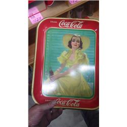 1938 ORIGINAL COCA-COLA METAL TRAY (AMERICAN ART WORKS INC)