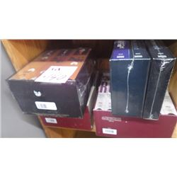 "1 6 PIECE ""ROOTS"" VHS TAPES, 7 PIECE ROOTS ""THE NEXT GENERATION"", ""GODFATHER SEGA"" 1, 2 AND 3 (UNOPE"