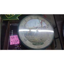 """1 TRAY OF J.D. """"THE FURROW"""" MAGAZINES AND WALL HANGING ROUND THERMOMETER"""