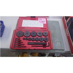 1 POWER FIST BEARING AND SEAL DRIVER SET PLUS POWER FIST TAP AND DIE SET (MISSING 3/8 NF DIE)