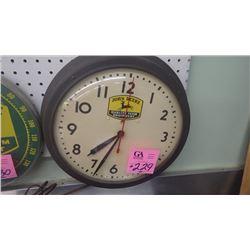 JD WALL CLOCK ELECTRIC 1960'S USA