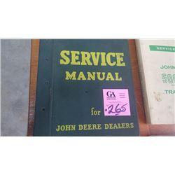 JD SERVICE MANUAL CIRCA 1950'S