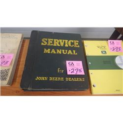 JD SERVICE MANUAL FOR B SERIES CIRCA 1940'S