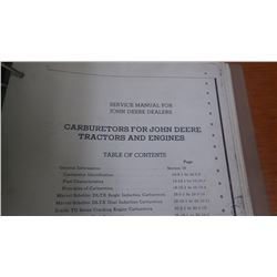 JD SERVICE MANUAL FOR CARBURATORS FOR GAS ENGINES