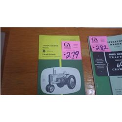 JD OPERATORS MANUAL FOR MODEL B TRACTOR