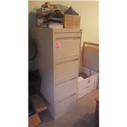 4 DOOR LEGAL FILE CABINET WITH LOCK
