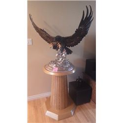 """RARE 36"""" ATTACK EAGLE. A CHESTER FIELDS ORIGINAL #50 OF 75 HAND CRAFTED AND COMMISSIONED IN 1986 STA"""