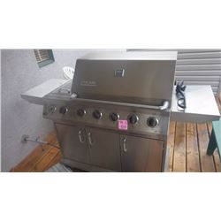 DUCANE STAINLESS STEEL DELUXE NATURAL GAS BBQ 5 BURNER WITH SIDE BURNER