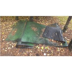 PALLET OF H.D. RUBBER MATTS (APPROX 4 X 8) FOR TRAILER