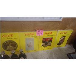 VOLUMES 1,2,3,4 OF COCA-COLA COLLECTABLES