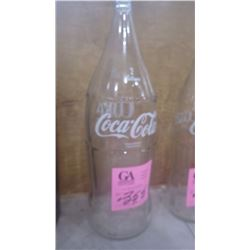 UNCIRCULATED 2 LTR SMALL SPOUT COCA-COLA GLASS BOTTLE