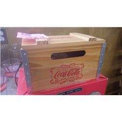 COCA-COLA CRATE CLOCK RADIO IN BOX