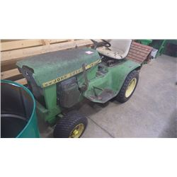 J.D. MODEL H.D. MODEL 112 GARDEN TRACTOR FOR RESTORATION WITH NEW FRONT TIRES