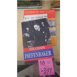 "3 BOOKS - JOHN DIEFENBAKER ""ONE CANADA"", GATEWAY TO THE NORTH"" - A PICTORAL HISTORY OF P.A. AND ""OVE"