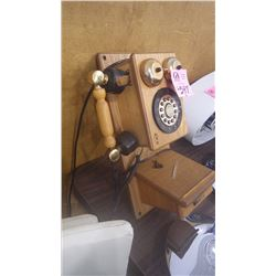 COCA-COLA RETRO WOODEN WALL PHONE
