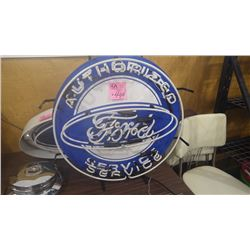 "FORD ""AUTHORIZED SERVICE"" NEON SIGN"