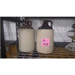 SET OF TWO ONE GALLON JUGS