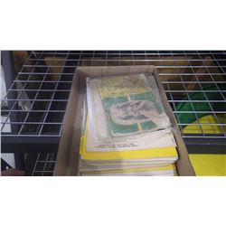 TRAY OF JD OPERATOR AND SERVICE MANUAL FOR PLOUGHS