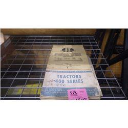 SHOP MANUAL FOR I.H.C. 400 SERIES TRACTORS