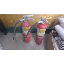 TWO CHARGED FIRE EXTINGUISHERS 10 LB