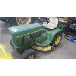 JD 112 GARDEN TRACTOR WITH MOWER ATTACHMENT RUNNING GOOD