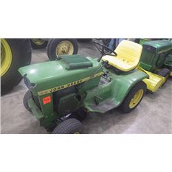 JD 112 GARDEN TRACTOR WITH ROTOTILLER ATTACHMENT RUNS GOOD