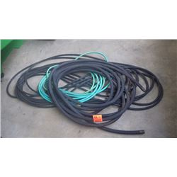 "THREE WATER HOSES 1/2"" AND 3/4"""