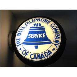 "Gas Pump Globe - ""The Bell Telephone Company of Canada"" Service Sign - Globe & Base"