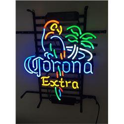 Neon Bar Light Sign - Corona Extra Parrot Bird Right Palm Tree