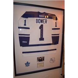 Johnny Bower - Toronto Maple Leafs Autographed Jersey Custom Framing