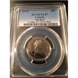 1973 Canada Quarter PCGS PL67 SB