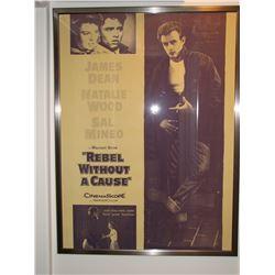 "Huge Original Classic Vintage Movie Poster - ""Rebel Without a Cause"" Framed!"