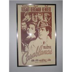"""HUGE Original Classic Vintage Movie Poster - """"Casablanca"""" Framed!"""