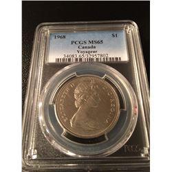 1968 Canada Dollar PCGS MS65