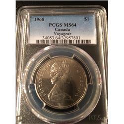 1968 Canada Dollar PCGS MS64