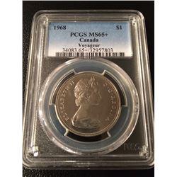 1968 Canada Dollar PGCS MS65+ Nice Grade!
