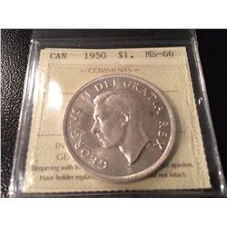 1950 Canada Dollar ICCS MS66!