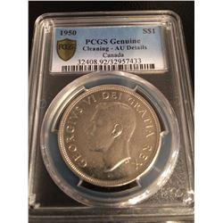 1950 Canada Dollar PCGS AU Details