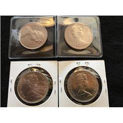(4) Canada Dollar UNC (1968(2)1969(2))