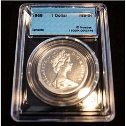 1969 Canada 1 Dollar - CCCS MS-64