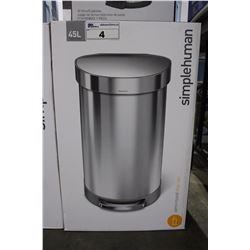 SIMPLE HUMAN 45L GARBAGE CAN